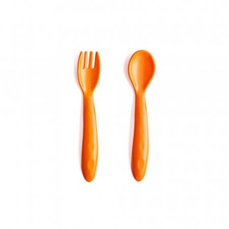 Set lingurita si furculita BabyJem Orange [0]