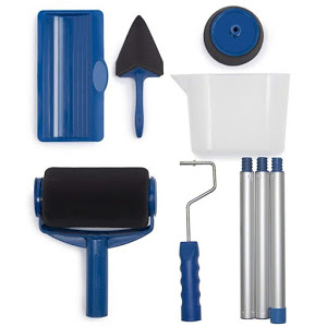 Trafalet Paint Roller Profesional cu umplere + rezervor recipient,brat extensibil [4]
