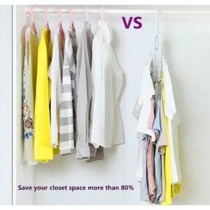 Umeras organizator haine 8 in 1, pliabil, economisire pana la 80% din spatiu, rotire 360 grade, alb, [3]