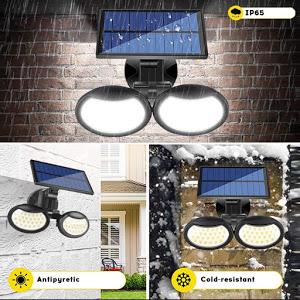 Lampa solara dubla 56 LED cu senzor de miscare [2]