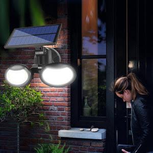 Lampa solara dubla 56 LED cu senzor de miscare [3]