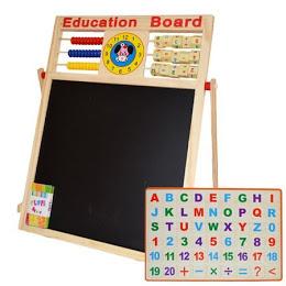 Tabla educativa multifunctionala pentru copii 40 x 40 cm [0]