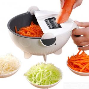 Feliator de legume cu strecurator, Vet Basket Vegetable Cutter [4]