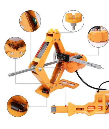 Cric Electric 3T cu Cheie Jante cu Impact, Kit JTY Tools [2]