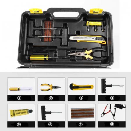 Kit pentru pana auto cu compresor si accesorii de reparat anvelopa [1]