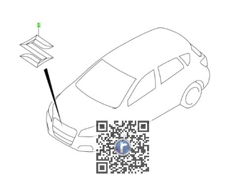 Emblema grila radiator SUZUKI 77811-54GC0-0PG 0