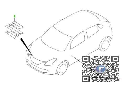 Emblema grila radiator SUZUKI BALENO 77811M65J00-0PG 0