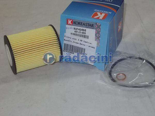 Filtru ulei 2.0D - producator DAEWHA cod 93743595 0