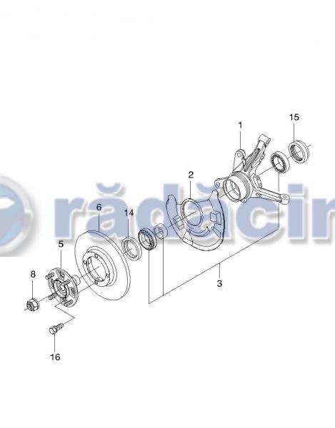 Rulment roata fata (set) cod 96285525 3