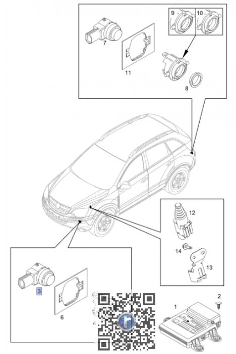 Senzor parcare Antara 25961313 4820710 0
