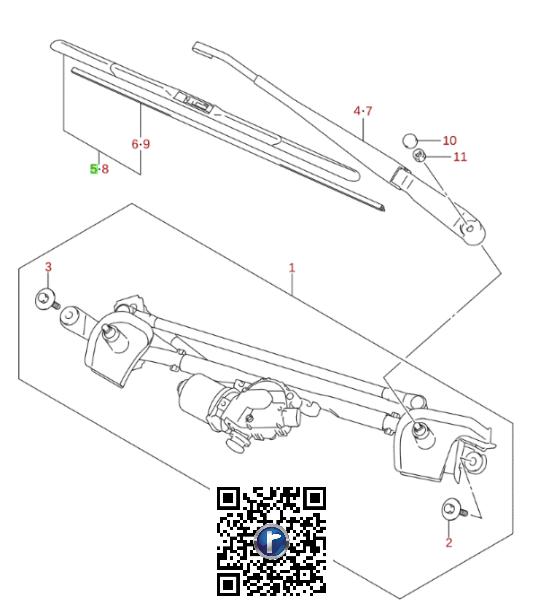 Stergator parbriz sofer IGNIS 38340-62R30-000 0