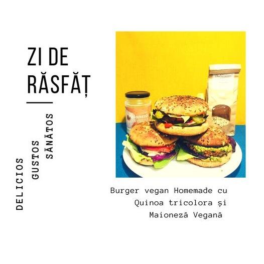 Burger vegan cu quinoa