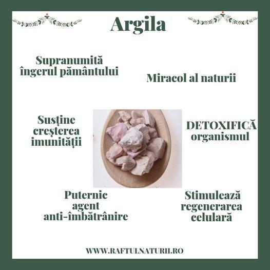 argila detoxifierea organismului