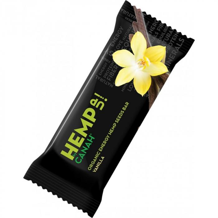 Baton energizant Hemp uP cu seminte de canepa, vanilie si susan ECO 0