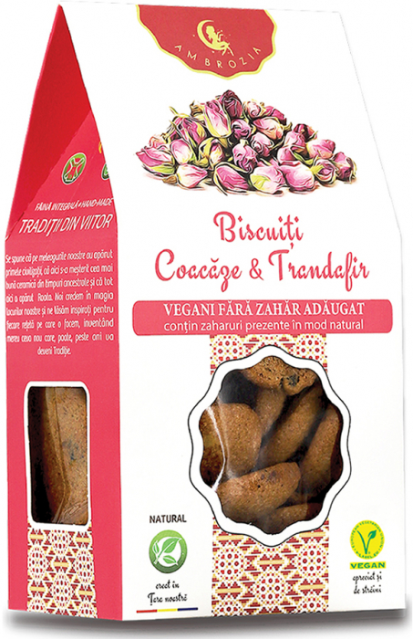 Biscuiti vegani coacaze & trandafiri 150g [0]