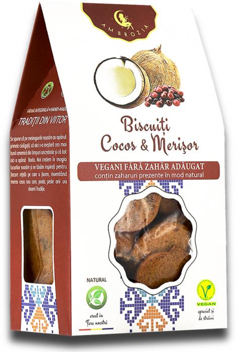 Biscuiti vegani cocos & merisor 150g [0]