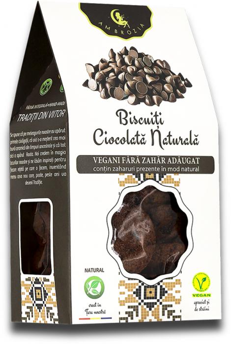 Biscuiti vegani cu ciocolata naturala 150g 0