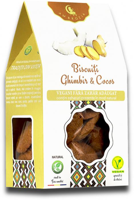 Biscuiti vegani ghimbir & cocos 150g [0]