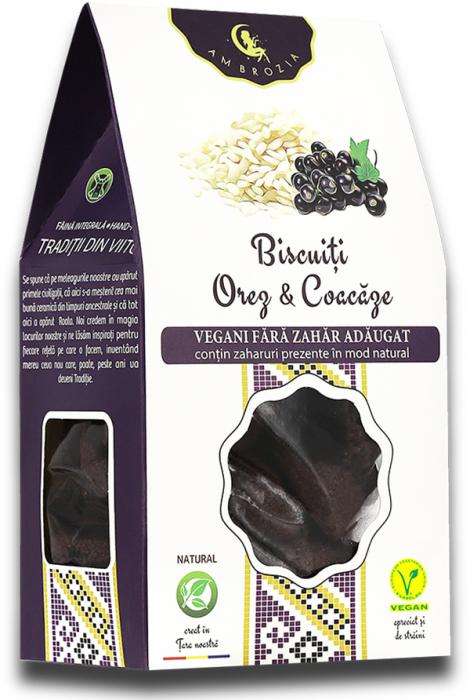 Biscuiti vegani orez & coacaze 150g [0]