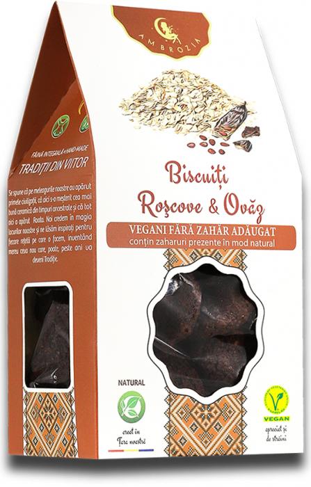 Biscuiti vegani roscove & ovaz 150g 0