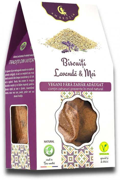 Biscuiti vegani lavanda & mei 150g 0