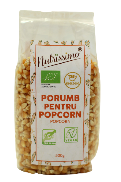 Boabe de porumb popcorn ECO 500g 0