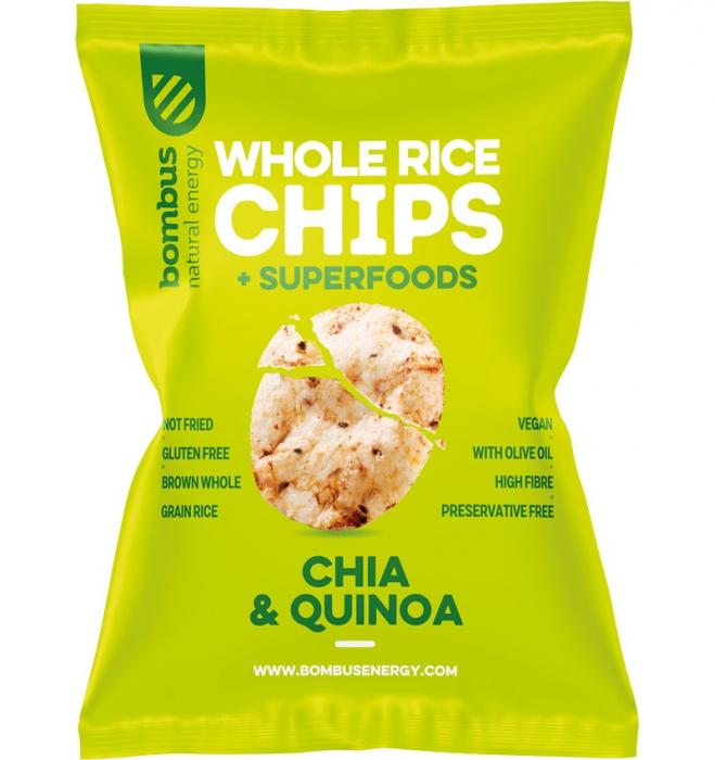 Chipsuri de orez cu chia si quinoa 60 g 0