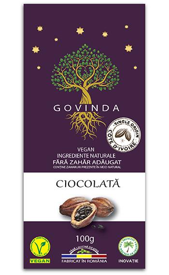 Ciocolata vegana traditionala GOVINDA 100g [0]