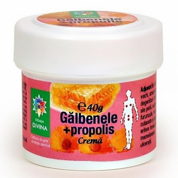 Crema naturala cu galbenele si propolis 40 g 0