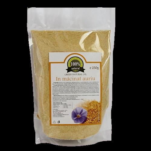 Faina din seminte de in auriu 250 g 0