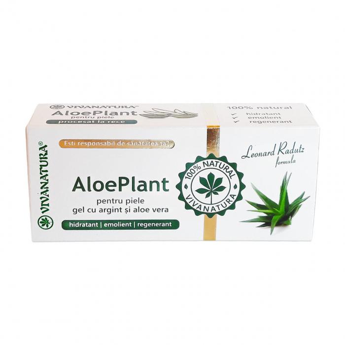 Gel cu Aloe Vera si Argint Coloidal - Aloe Plant 20ml [0]