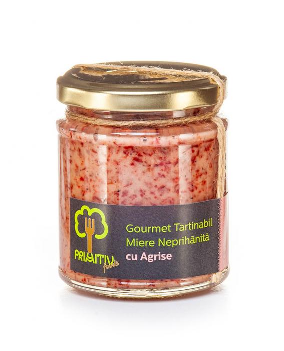 Gourmet tartinabil din miere neprihanita cu agrise 250 g [0]