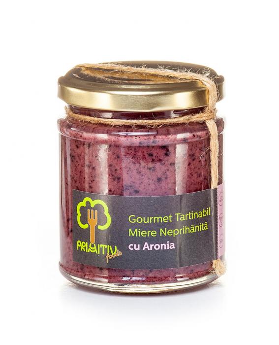 Gourmet tartinabil din miere neprihanita cu aronia 245 g 0