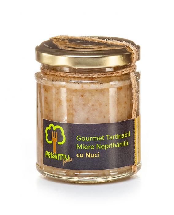 Gourmet tartinabil din miere neprihanita cu nuci 250 g [0]
