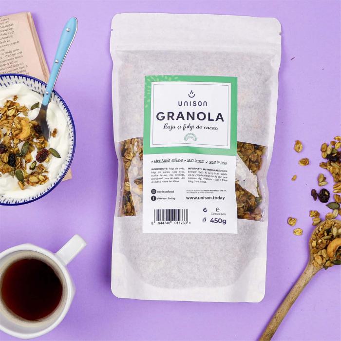 Granola cu caju si cacao nibs 450 g [0]
