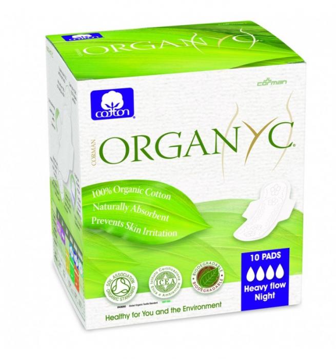 Organyc Bio absorbante intime din bumbac organic 4 picaturi -10 buc 0