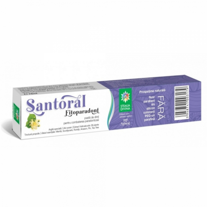 Pasta de dinti FITOPARADONT Santoral 75 ml 0