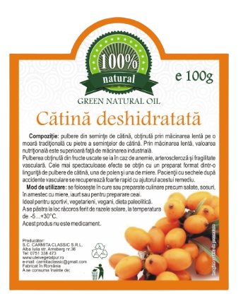 Pulbere de catina deshidratata 100 g [0]