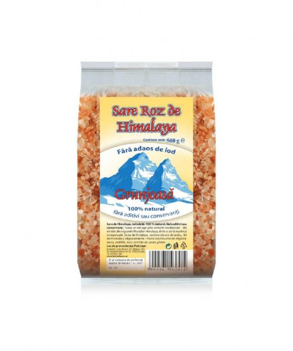 Sare de Himalaya grunjoasa neiodata 500 g 0