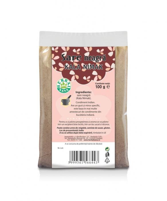 Sare neagra fina (Kala Nimak) 100 g [0]