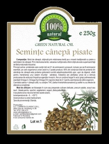 Seminte de canepa pisate 250 g [0]