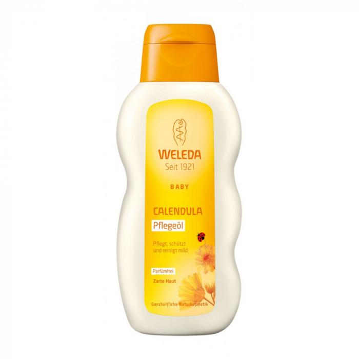 Ulei pentru corp cu galbenele fara parfum Baby 200ml 0
