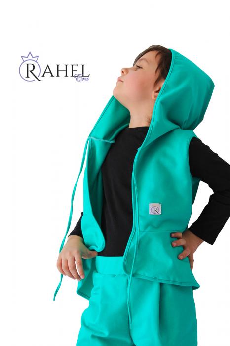 Costum Rahel verde aqua 2