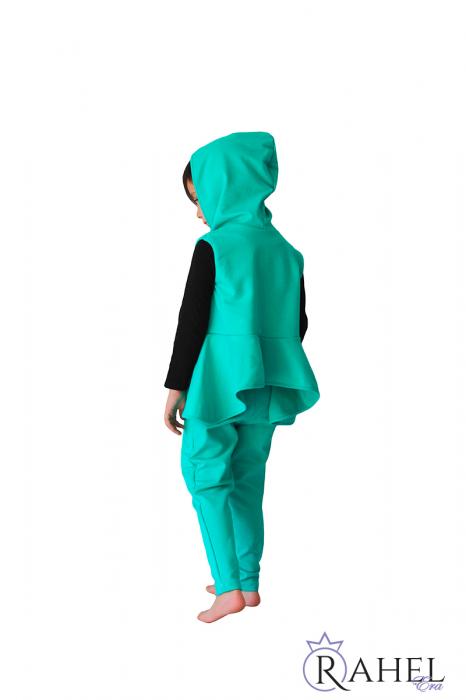 Costum Rahel verde aqua 1