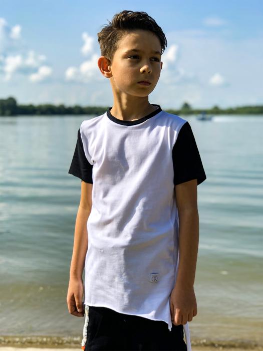 Tricou de baieti white&black fashion 4