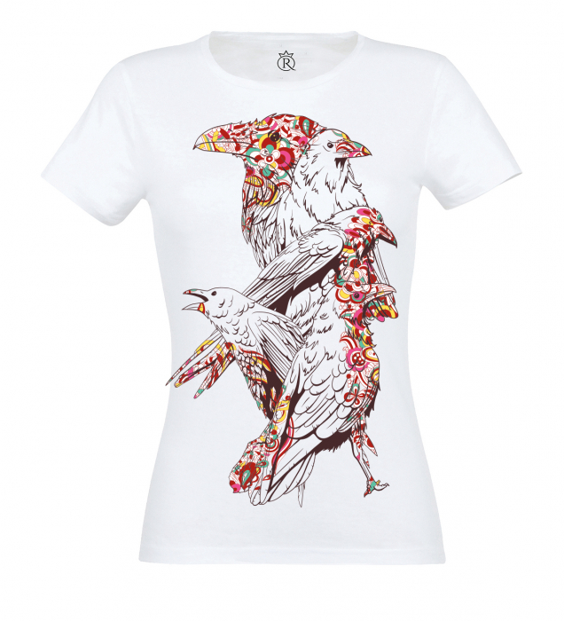tricou imprimat digital  BIRDS 0