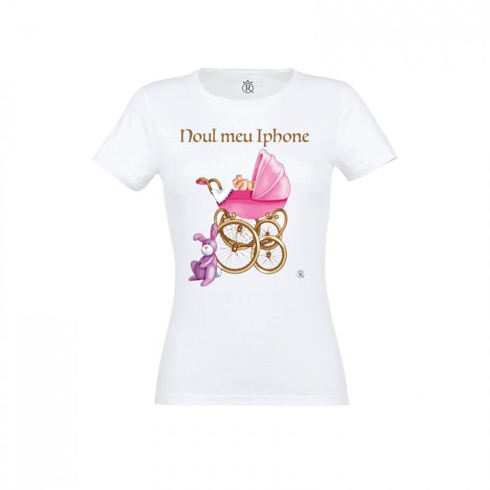 Tricou personalizabil femei model new iphone pink 0