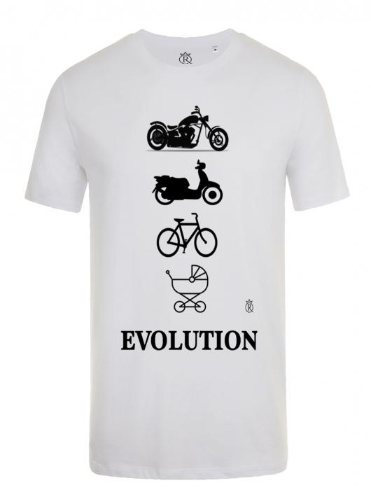 Tricou personalizabil moto evolution adulti 0