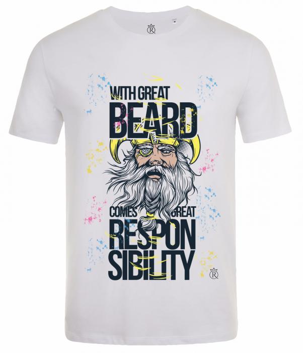Tricou cu barba pentru pasionati 0