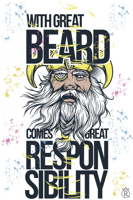 Tricou cu barba pentru pasionati 1